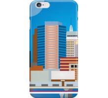 Oklahoma City, Oklahoma - Skyline Illustration by Loose Petals iPhone Case/Skin