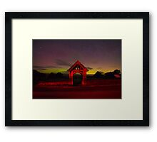 Aurora Borealis Northern Lights Over Nidderdale Yorkshire Dales IMG 2583 Framed Print