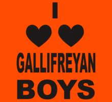 I Love Love Gallifreyan Boys Kids Clothes