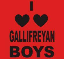 I Love Love Gallifreyan Boys Kids Tee