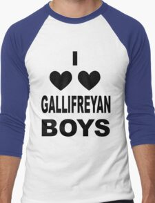 I Love Love Gallifreyan Boys Men's Baseball ¾ T-Shirt