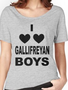 I Love Love Gallifreyan Boys Women's Relaxed Fit T-Shirt