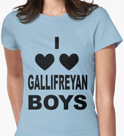 I Love Love Gallifreyan Boys Womens Fitted T-Shirt