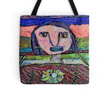 Girl's Face #1b Tote Bag