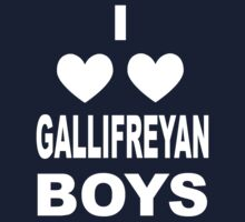 I Love Love Gallifreyan Boys T-Shirt