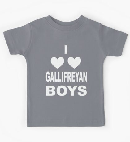I Love Love Gallifreyan Boys Kids Tee