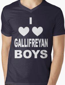 I Love Love Gallifreyan Boys Mens V-Neck T-Shirt