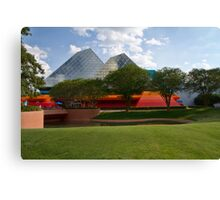 Pyramids and Primary Colors Canvas Print