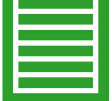 Full Stack Developer - Design for Web Developers Green Font Sticker