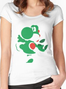 Yoshi - N64 Smash Bros Women's Fitted Scoop T-Shirt