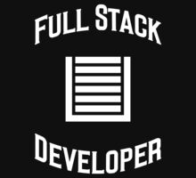Full Stack Developer - Design for Web Developers White Font One Piece - Short Sleeve