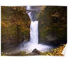 Autumn at Multnomah Falls, Oregon Poster