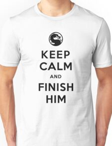 Keep Calm and Finish Him (clean version light colors) Unisex T-Shirt