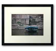 Single Boat Framed Print