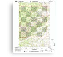 USGS Topo Map Washington State WA Weddle Canyon 244568 2000 24000 Canvas Print