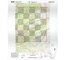 USGS Topo Map Washington State WA Weddle Canyon 244568 2000 24000 Poster