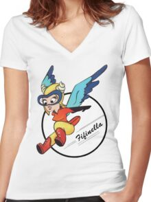 Fifinella WASP Shirt Women's Fitted V-Neck T-Shirt