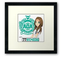 AOA Hyejeong (Heart Attack) Framed Print