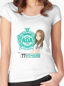 AOA Hyejeong (Heart Attack) Women's Fitted Scoop T-Shirt