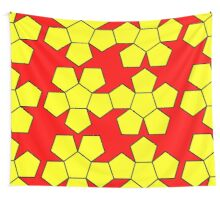 Dodecahedron NetImage  Wall Tapestry