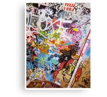 Urban Graffiti Mess Canvas Print