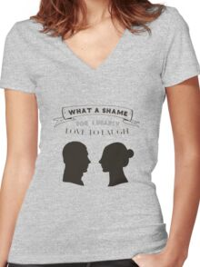 What a Shame Women's Fitted V-Neck T-Shirt