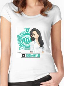 AOA Seolhyun (Heart Attack) Women's Fitted Scoop T-Shirt