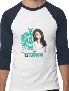 AOA Seolhyun (Heart Attack) Men's Baseball ¾ T-Shirt