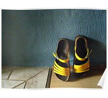 Ann's Yellow Shoes Poster