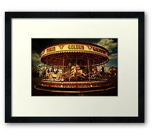 Golden Gallop Framed Print