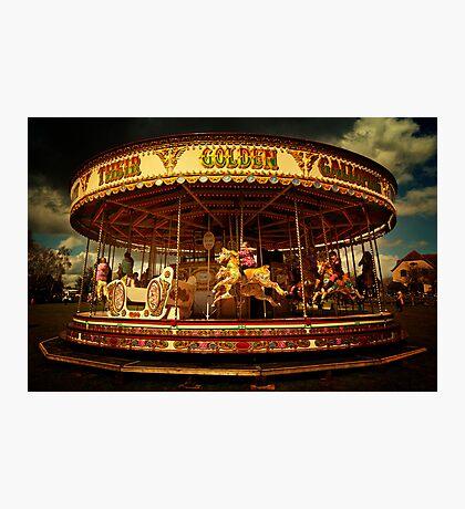 Golden Gallop Photographic Print