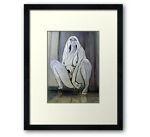 Nude Crouching Framed Print