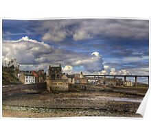 Clouds over South Queensferry Poster