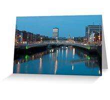 Dublin at night Greeting Card