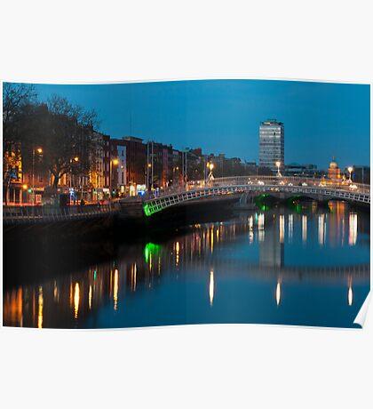 Dublin at night Poster