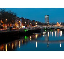 Dublin at night Photographic Print