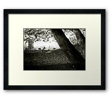 Guarding Framed Print