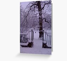 Snow Gate Greeting Card