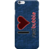 I ♥ RedBubble - Dark Blue Jean #2 iPhone Case/Skin