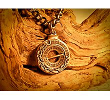 Working Sundial Necklace Photographic Print