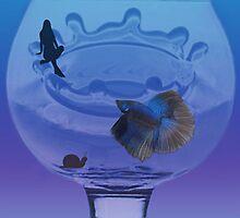 <º))))>< BETTA OF BLUE ENJOYING THE VIEW  <º))))><  by ✿✿ Bonita ✿✿ ђєℓℓσ