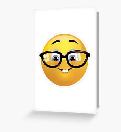 Nerd Emoji Greeting Card