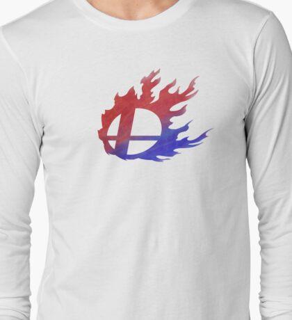 Smash Bros Flames Long Sleeve T-Shirt