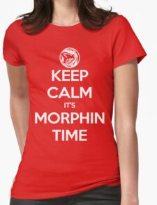 Keep Calm It's Morphin Time (Red) Womens Fitted T-Shirt