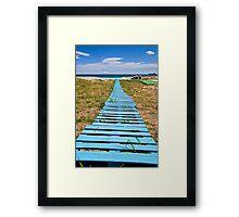 improvised boardwalk Framed Print