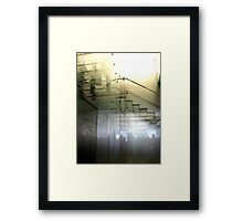 GHOSTLY STAIRS Framed Print