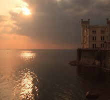 Miramare sunset by Ian Middleton