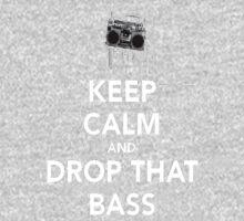 Keep Calm Drop the Bass Kids Tee