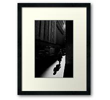The Wall Street, New York City Framed Print