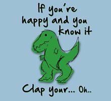 A Happy Dinosaur? Black Text Unisex T-Shirt